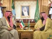 ولي ولي العهد يستقبل وزير الدفاع الكويتي ويعقد اجتماع لبحث الأوضاع في المنطقة