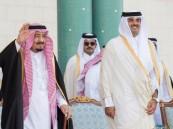 """الملك سلمان لـ""""أمير قطر"""": الزيارة أتاحت فرصة بحث سبل تعزيز علاقاتنا الأخوية"""
