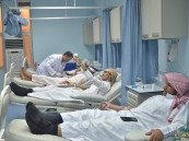 """بالصور.. """"المعهد العلمي"""" يتبرع بالدم لقسم العمليات والحوادث لمستشفى الملك فهد"""