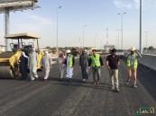 بلدي الاحساء يقف على آخر خطوات إفتتاح مشروع (تقاطع طريق الملك فهد – عين النجم)