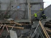 بالصور.. ٩ مصابين في انهيار سقف محطة بنزين تحت الإنشاء في الأحساء