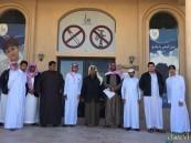 """ثانوية """"الملك سعود"""" تزور الجمعية الخيرية لمكافحة التدخين بالأحساء"""