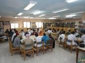 ورشة عمل طلابية لوضع جداول الاختبارات النهاية بثانوية صقر الجزيرة