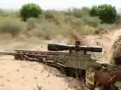 شاهد.. أسلوب تخفي مذهل لقناصة سعوديون يستهدف الحوثيين على بعد 4 كلم!!