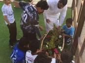 مدرسة جبل النور المتوسطة تحتفي بأسبوع الشجرة الـ40
