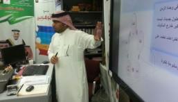 """مشرف رعاية الموهوبين بوزارة التعليم يزور ابتدائية """"الأمير محمد بن فهد"""" بالهفوف"""