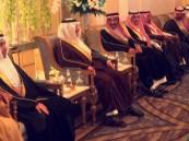 """بالصور.. الأمير سعود بن نايف يشرّف حفل زفاف """"القو"""" و""""الصويغ"""""""