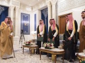 """بالصور.. أصحاب السمو الملكي يؤدون القسم أمام """"خادم الحرمين الشريفين"""" بعد تعيينهم"""