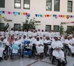 """مقيمي مركز التأهيل الشامل يشاركون """"الأشخاص ذوي الإعاقة"""" بحفل عيد الفطر المبارك بالمركز"""