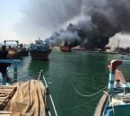 ملالي طهران يفتعلون حريقا في قوارب الاحوازيين لاجبارهم على الهجرة