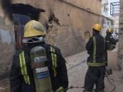 """بالصور.. حريق منزل """"أيل للسقوط"""" يُفزع سكان """"الصالحية"""" في الأحساء"""