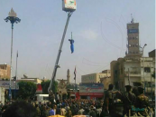 تعليق جثة مغتصب الطفلة اليمنية في ميدان التحرير بصنعاء