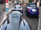 شاهد.. يزيد الراجحي يستعرض أسطول سياراته في شارع بفرنسا.. ومغردون: هياط مستفز