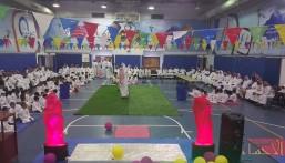 استقبال الطلاب المستجدين في الأسبوع التمهيدي بمدرسة الامير محمد بن فهد الابتدائية