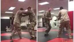 بالفيديو.. إصابة قوية لجندي المارينز الأمريكي بعد مصارعته سعودياً على طريقة الجودو!