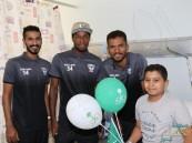 بالصور .. لاعبو هجر يشاركون المرضى في أحتفال #اليوم_الوطني