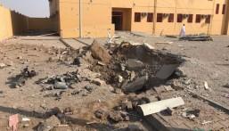 بالصور .. الميليشيات الحوثية تستهدف مدرسة في محافظة صامطة