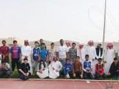 """طلاب ثانوية """"سعد بن عبادة"""" في رحلة إلى """"نادي الفتح"""" الرياضي"""