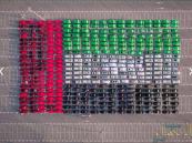 """بالصور.. أكبر علم بالسيارات يُدخِل شرطة دبي لموسوعة """"غينيس"""""""