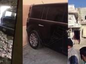 """بالفيديو.. هل قادت """"بنت الكلابية"""" السيارة واصطدمت بالجدار..!؟"""