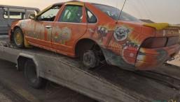 """شاهد: """"حملة الفجر"""" تطيح بـ17 سيارة للمفحطين في الأحساء.. والمرور تتوعد!!"""