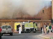 """بالصور.. إخلاء منزلين بسبب حريق في """"مزروع"""" الأحساء"""