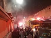 """بالصور.. حريق محدود بـ """"العيون"""" و""""الدفاع المدني"""" يتدخل"""