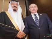 خادم الحرمين يبحث مع بوتين ملفات عدة تتصدرها قطر