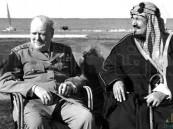 في مقطع نادر.. الملك المؤسس وتشرشل على ضفاف بحيرة قارون المصرية