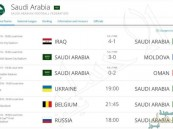 الفيفا يعلن مواعيد وديتي الأخضر أمام أوكرانيا وبلجيكا
