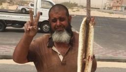"""بالصور.. العثور على """"أفعى ضخمة"""" في منطقة سكنية بـ #الأحساء"""