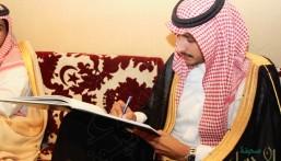 """بالصور.. الأمير """"محمد بن عبدالعزيز"""" يعقد قرانه"""