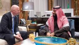 """""""ولي العهد"""" يلتقي رئيس الاتحاد الدولي لكرة القدم"""