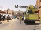 بالصور … مدني #الأحساء ينقذ ثلاثة أطفال وامرأة من حريق اندلع بمنزلهم