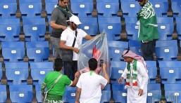 """رغم الخروج المبكر.. شاهد """"صور راقية"""" لمشجعي السعودية"""