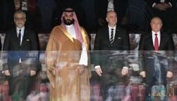 بالصور  .. شاهد حضور سمو ولي العهد محمد بن سلمان لمباراة افتتاح كأس_العالم_2018