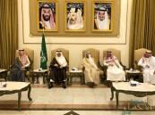 """بالصور… الأمير """"سعود بن نايف"""" يعزي أسرة """"الملحم"""" في وفاة فقيدهم"""