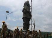 أيام ويكتمل بناء أضخم تمثال على الأرض
