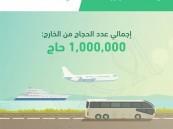 الجوازات تعلن: اكتمال وصول مليون حاج من الخارج للسعودية