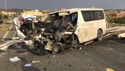 مصرع و إصابة ١5 في حادثين منفصلين بعسير