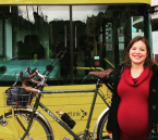 صاحبة منصب رفيع تتوجه للمستشفى لوضع مولودها على دراجة هوائية!!!