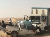 """بالصور… تصادم مروع """"وجهاً لوجه"""" ومصرع وإصابة 5 بينهم سعوديين !!"""