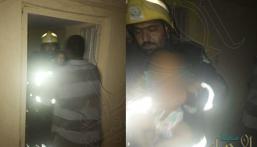 إنقاذ عائلة من 7 أفراد من الموت حرقًا بحفر الباطن