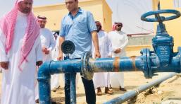 مدير عام المياه يتفقد أعمال قطاع ماء والبيئة في محافظة بقيق