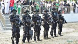 بالصور.. عروض عسكرية وألعاب نارية في ذكرى اليوم الوطني بالجبيل