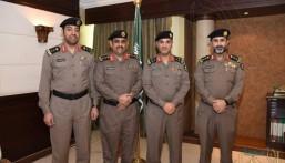 """مدير شرطة الأحساء يقلد """"الفهادي"""" رتبة عقيد"""