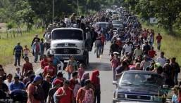 قافلة المهاجرين تتحدى ترامب بالزحف نحو الحدود الأميركية