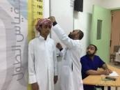 بالصور .. الفريق الطبي ينفذ برنامج الفحص الاستكشافي لطلاب ثانوية الحرمين