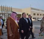 """""""بومبيو"""" يغادر الرياض و """"خالد بن سلمان"""" في وداعه بالقاعدة الجوية"""