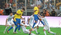 """بالصور .. منتخب البرازيل يتوج بطلا لـ """"سوبر كلاسيكو"""" بعد فوزه على الأرجنتين"""